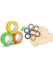 لعبة تخفيف التوتر من اي لوجي، 3 حزم من حلقات مغناطيسية سحرية للاصابع لتخفيف القلق، هدية رائعة للحفلات