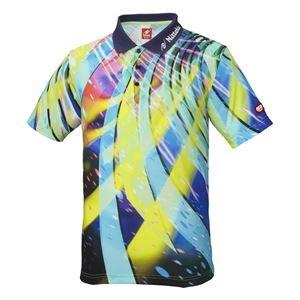 ニッタク(Nittaku) 卓球アパレル SPINADO SHIRT(スピネードシャツ) ゲームシャツ(男女兼用) NW2176 ネイビー L B07PGF571C