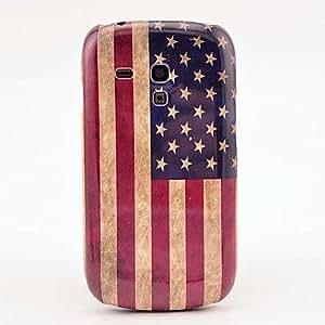 Retro America National Flag Pattern Hard Back Cover Case for Samsung Galaxy S3 Mini I8190
