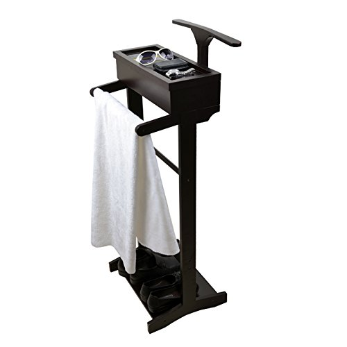 Cherry Valet Stand (ViscoLogic Wooden Men's Suit Valet Stand Cherry Finish)