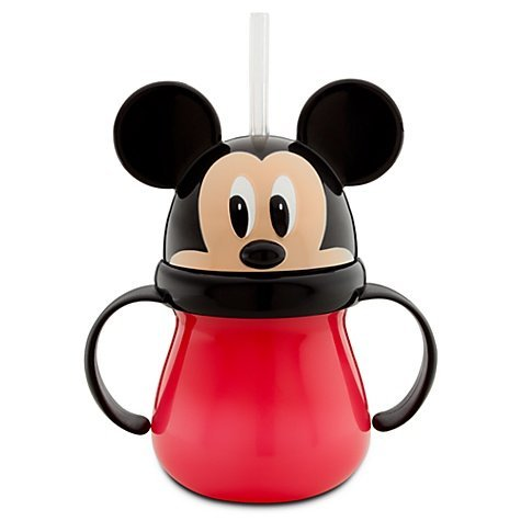 Price comparison product image Mickey Mouse Head Cup with Handle and Straw - Mickey Mouse Kids Cup