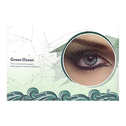 f80b402a31f Buy Bausch   Lomb Natural Look Disposable Green Contact Lens 3 Months (Pack  of 2 Pieces + 1 Lens Case) for Men and Women Online at Low Prices in India  ...