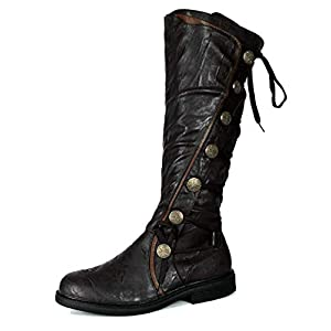 Military Steampunk Western Vintage Style Halloween Costume Adult Mens Boots