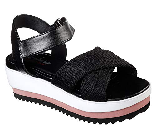 Skechers Cali Eternal Love Womens Platform Wedge Sandals Black 11