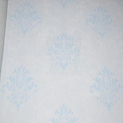 Le Papier Peint Decoratif Pour Mur Ne Laisse Aucune Trace De Surface Facile A Nettoyer Queue De Vent Bleu 53x1000cm Amazon Fr Bricolage