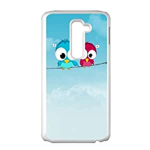 Cute Twitter Birds LG G2 Cell Phone Case White toy pxf005_5876989