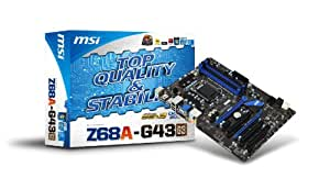 MSI  Intel Z68 (B3) Chipset ATX DDR3 1066 Intel - LGA 1155 Motherboards Z68A-G43 (G3)