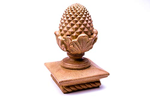 - Terracotta Pineapple Post Cap with Rope Base for Indoor or Outdoor