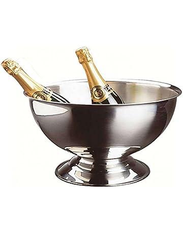 Util Home 4615260 - Cubitera para champán en Acero Inoxidable Gris 40 cm