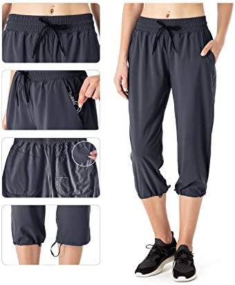NAVISKIN Pantalones Casuales Protección UPF 50+ para Mujer Capri Pants Deportivos Pantalón Pirata Atlético Fitness Correr Térmico Chándal Deporte Yoga Running Entrenamiento 7