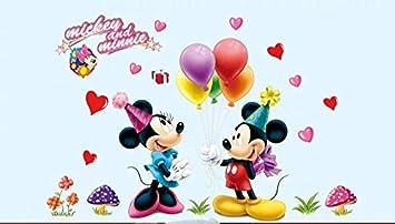 Wandtatoo Kinderzimmer XXL Mickey Mouse /& Minnie Mouse Wandsticker Wandaufkleber