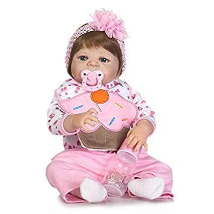 Nicery Doll Reborn Babypuppe Harte Silikon Vinyl für Jungen und Mädchen Geburtstagsgeschenk 50-55cm Dolls gx55z-40de