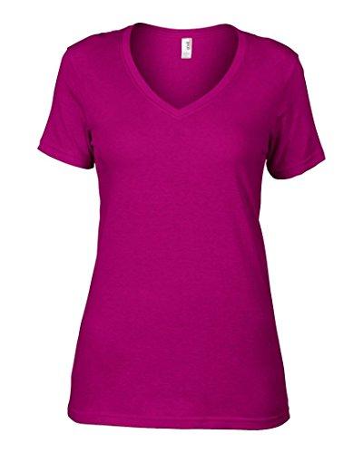 Anvil - Camiseta de manga larga - para mujer Frambuesa