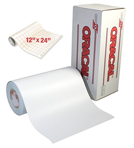 (Oracal 631 Roll of Matte White Vinyl for Cricut & Cameo (12