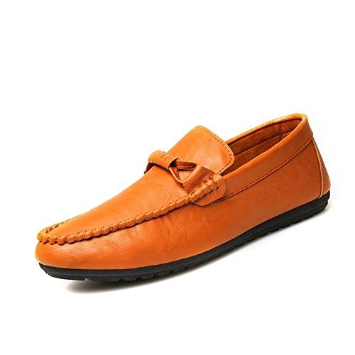 Granos de simple moda en zapatos de verano/Pie comodidad transpirable zapatos de los hombres naranja