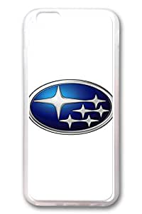 iPhone 6 Case - Clear Soft TPU Back Cover with Subaru Car Logo 1 Print for iPhone 6 Scratch-Resistant Clear Slim Fit Cover for iPhone 6 4.7 Inches