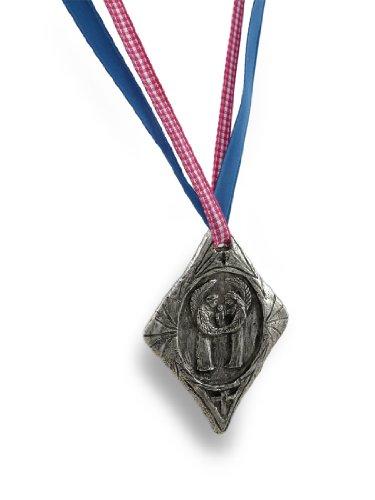 Pewter Guardian Angels With Child Crib/Baptismal/Christening Medal (Religious Medallion Baptismal Medal)