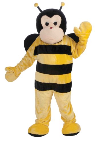 Forum Deluxe Plush Bee Mascot Costume, Yellow, One