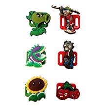 Plants Vs. Zombies Shoelace Decoration Clips 6 Pcs Set #2