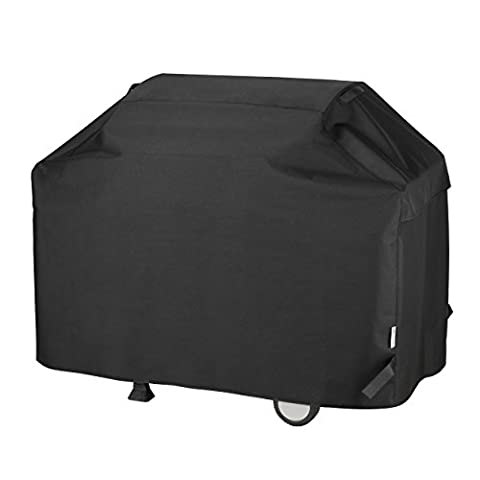 Unicook Heavy Duty Waterproof Barbecue Gas Grill Cover, 65-inch BBQ Cover, Special Fade and UV Resistant Material, Durable and Convenient, Fits Grills of Weber Char-Broil Nexgrill Brinkmann and - Vinyl Barbecue Cover