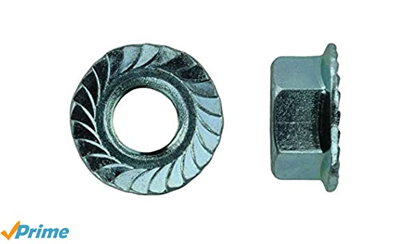 U-Turn 50 Count 1//4-20 x 1//2 Serrated Hex Head Flange Bolt Grade 5 Zinc