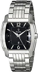Bulova Men's 96B112 Bracelet Black Dial Watch