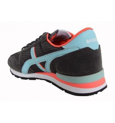 Scarpe sport per Donna e Bambina BASS3D 41044 GRIS OSCURO