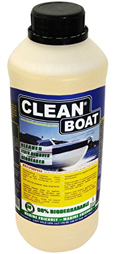 Clean Boat Multipurpose CONCENTRATE boat cleaner, stain remover/degreaser 98% Biodegradable, Ecologically friendly. Perfect for cleaning Hull and Deck, Teak, Cushion, Upholstery, Stainless Steel. by Clean Boat