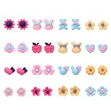 16 Pairs Variety Assorted Flowers Stud Earrings Set