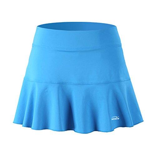 32e SANERYI Women's Pleated Elastic Quick Drying Tennis Skirt With Shorts Running Skort