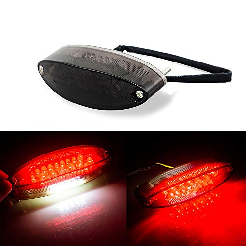 Evomosa Motorcycle Taillight Universal Brake Stop Light ATV Tail Light for Harley Honda BMW Suzuki (Honda 450 Motorcycle)