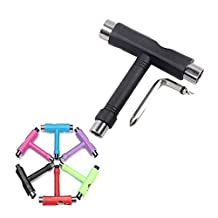 UKCOCO 6pcs All-in-one Multifunction Skateboard Scooter Longboard T-Shaped Adjusting Tools Wrenches T Tools (Random Color)