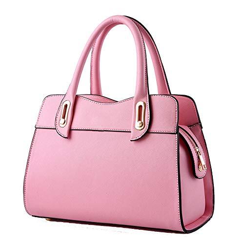 Vintage Pu Grande Pink Donna Pelle Da Capacità In Borsa A Per Semplice Tracolla Tote qF8pBpn0
