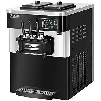 Amazon.com: zinnor Ice Cream máquinas, Comercial Soft Ice ...
