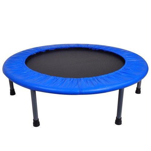 Blue 36 Round Children Trampoline With Red Safety