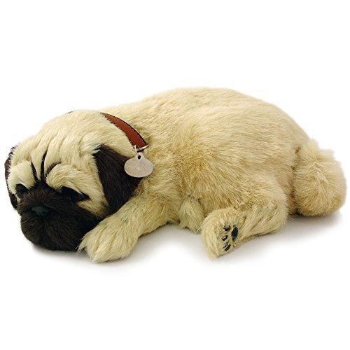 88 Unlimited Perfect Petzzz Pug - Breathing Puppy Dog Plush Set w/Carrier Bed Brush