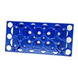 28 Well Centrifuge Tube Rack for 10ml/15ml/50ml Laboratory Plastic Tube Rack Holder(Pack of one) (Blue)