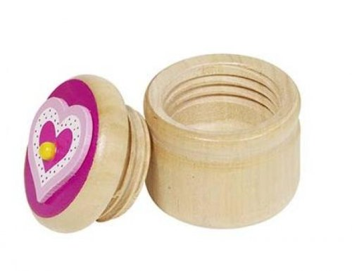 Unbekannt Boîte à Dents de Lait en Bois Motif cœur Rose - 60914