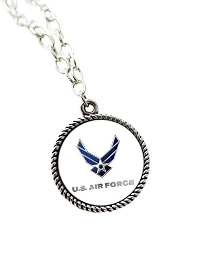 Son Sales, Inc. United States Military Sublimated Pendant Necklace and Chain (Air Force) (State Logo Pendant)