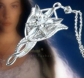 Arwen's Evenstar Necklace Lord of the Rings Pendant Alloy