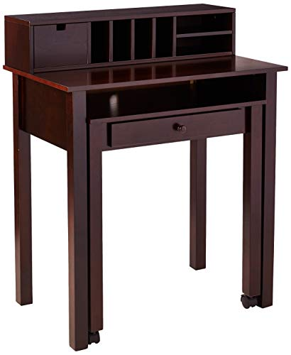 (2-Drawer Extending Desk Cappuccino)