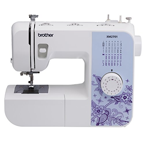 Brother Sewing Brother XM2701 Lightweight, Full-Featured Sewing Machine with 27 Stitches, 1-Step Auto-Size Buttonho