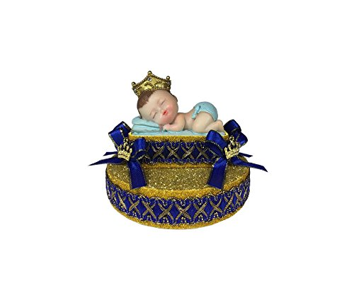 Royal blue little prince cake decoration