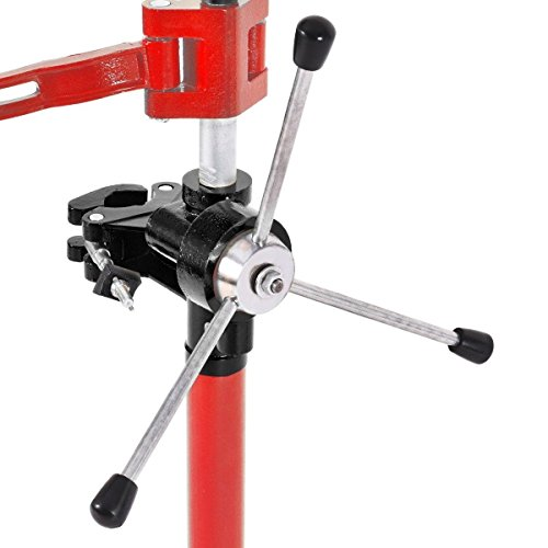 Globe House Products GHP 20'' Max Height Red Steel Hand Operated Strut Coil Spring Press Compressor Machine by Globe House Products (Image #1)