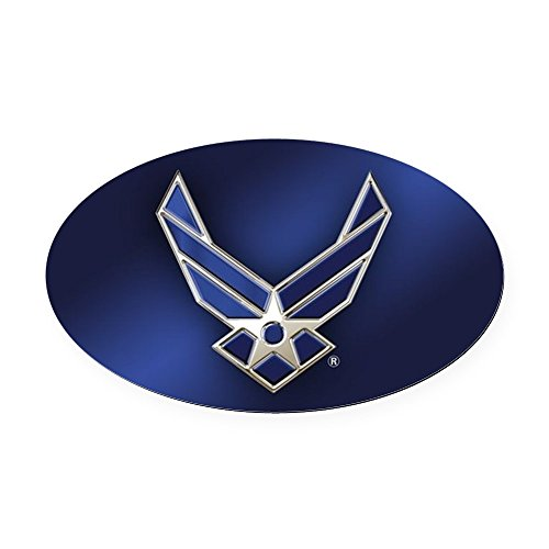 CafePress - U.S. Air Force Logo Detailed - Oval Car Magnet, Euro Oval Magnetic Bumper Sticker
