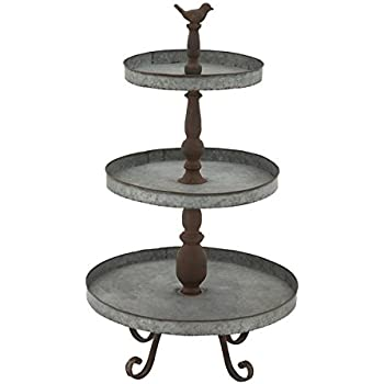 "Deco 79 54347 Metal 3 Tier Tray Stand, 16"" x 29"""