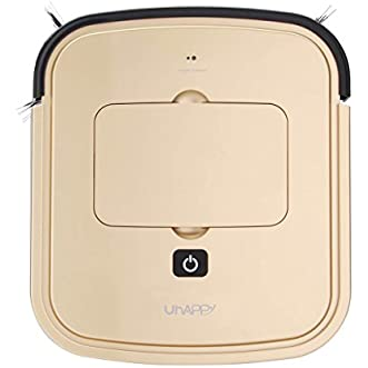 Robotic Vacuum Cleaner Automatic Intelligent Floor Cleaning House Machine with Sensing Technology (Gold)