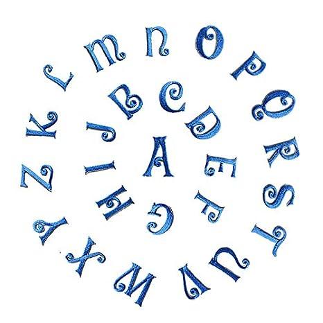 jeans Toppa ricamata con lettere dellalfabeto da applicare con ferro da stiro o da cucire 25 mm Red 26 pezzi motivo fai da te vestiti per zaini cappelli gonne sciarpe magliette