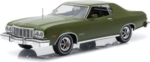 1:18 COLLECTIBLES ARTISAN COLLECTION 1976 FORD GRAN TORINO METALLIC VEHICLE DARK GREEN 19018 BY GREENLIGHT TOY CAR