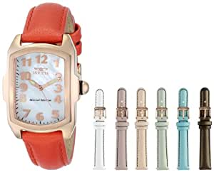 Invicta Women's 12635 Lupah Analog Display Swiss Quartz Orange Watch